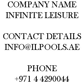 INFINITE LEISURE POOL DUBAI