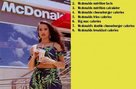 Know More About McDonalds Nutrition