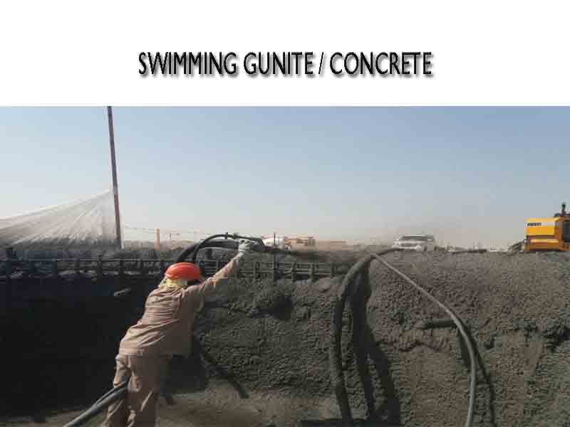 pool gunite concreting