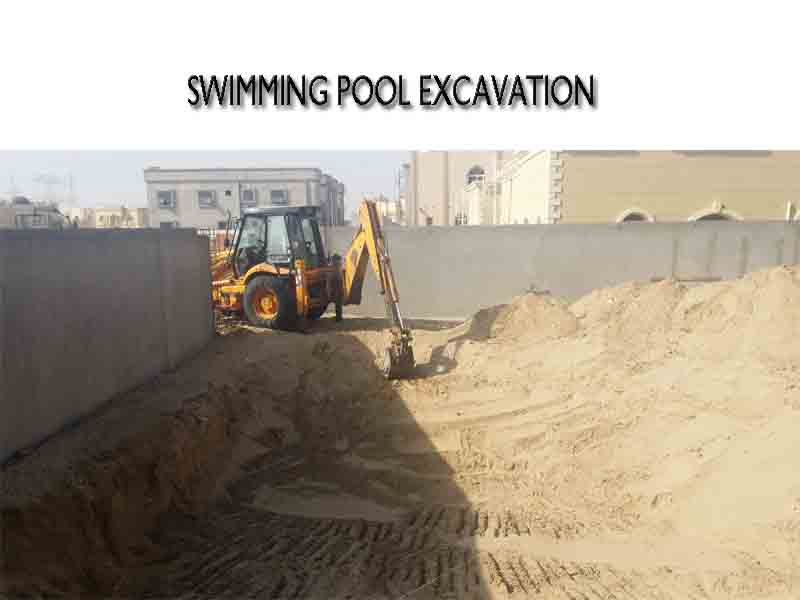 swimming pool exavation