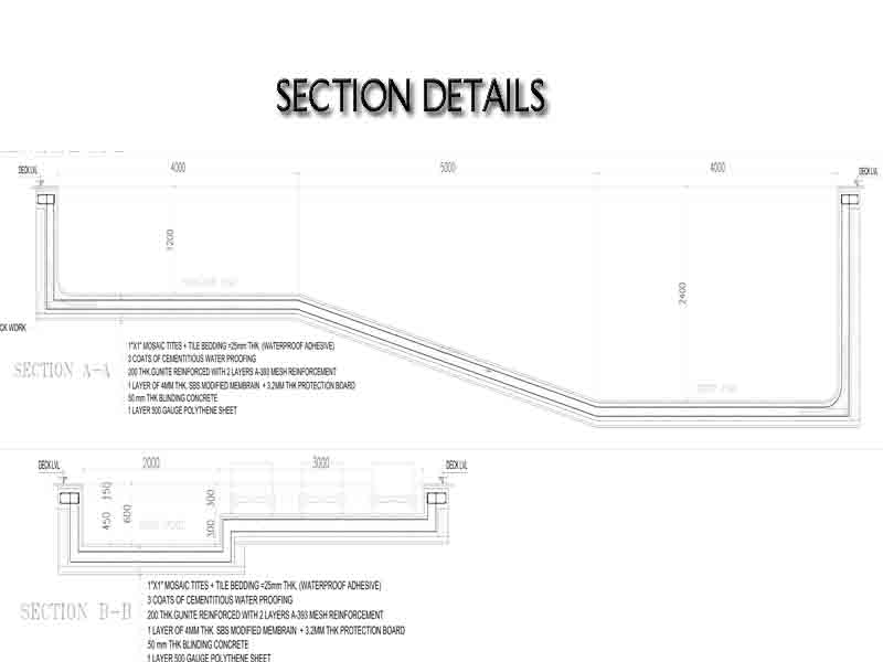swimming pool section details