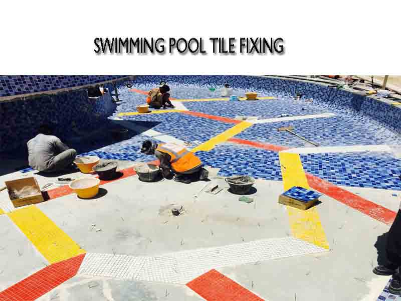 swimming pool tiles fixing